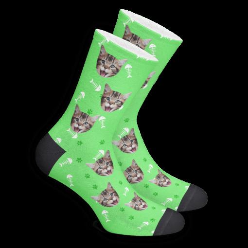 Носки со своим собственным принтом кота