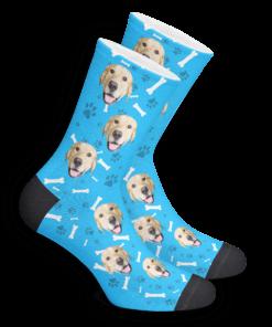 Носки со своей собакой синие