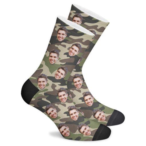 Камуфляжные носки на 23 февраля
