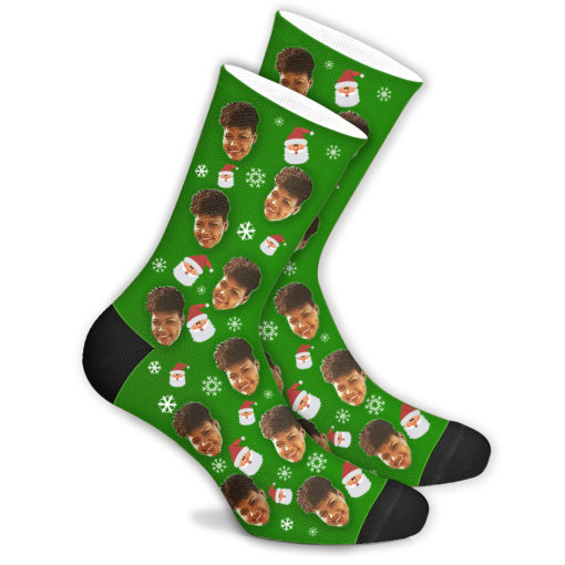 Новогодние носки 2022 со своим принтом