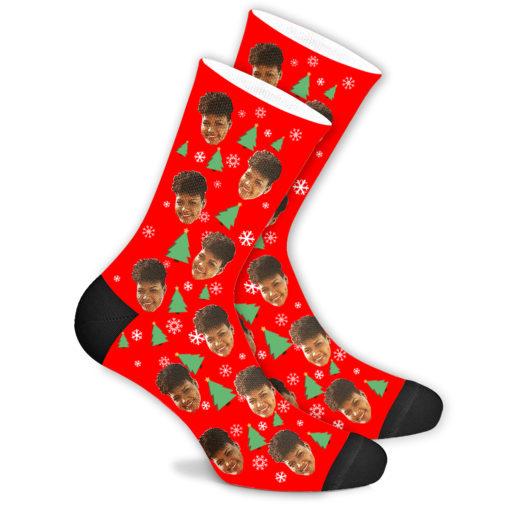 Ёлочные носки красные