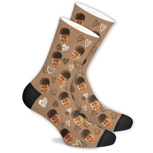 Любовные носки бежевые