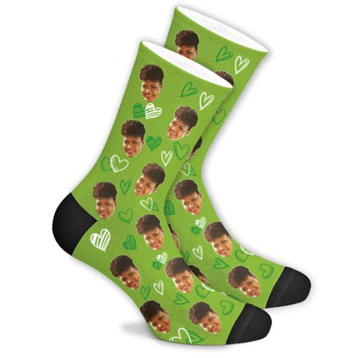 Любовные носки зеленые