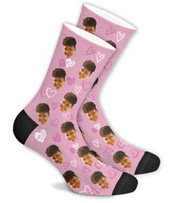 Любовные носки розовые
