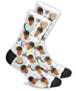 Романтические носки белые