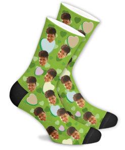 Романтические носки зеленые