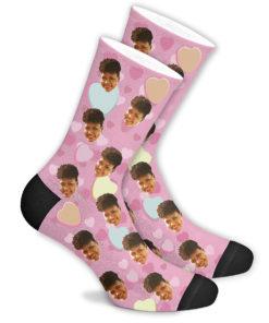 Романтические носки розовые