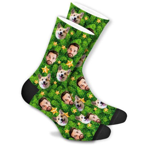 Еловые новогодние носки со своим принтом