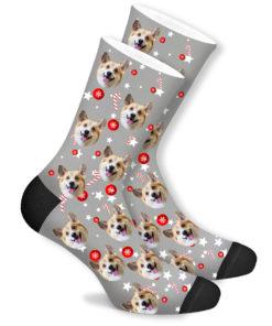Рождественские носки со своим принтом